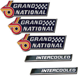 Buick 5 Piece GN Fender Emblem and Intercooled Emblem Set