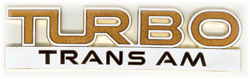 Turbo Trans Am Fender Emblem