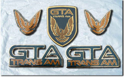 1991-92 Trans Am GTA Cloisonne Emblem Sets(Composite Front Nose - No Stud, Cloisonne' Fender and Sail)