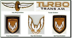 Turbo Trans Am Cloisonne' Emblems
