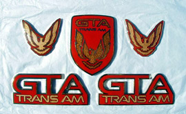 GTA Trans Am Cloisonne' Emblems
