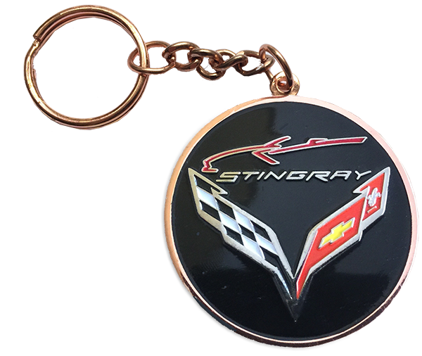 NEW!!  C7 Stingray Word/Silhouette Keychain
